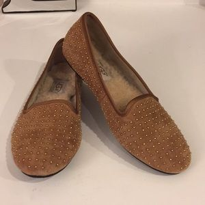 UGG Alloway studded sheepskin loafers, Sz 5.5